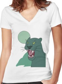panther shirt, gravity falls Women's Fitted V-Neck T-Shirt