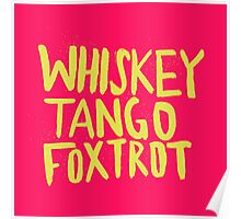 Whiskey Tango Foxtrot - Color Edition Poster