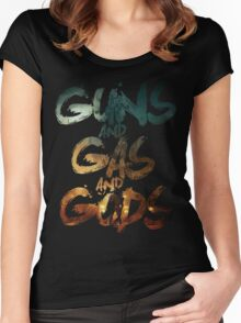 Guns and Gas and Gods Women's Fitted Scoop T-Shirt