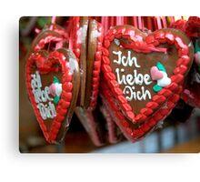 Gingerbread Hearts Canvas Print