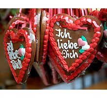 Gingerbread Hearts Photographic Print