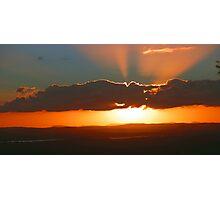 Sunset over Glasshouse Photographic Print