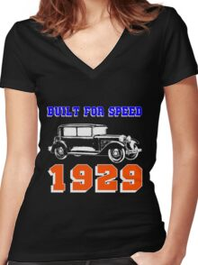 1929 SALOON Women's Fitted V-Neck T-Shirt