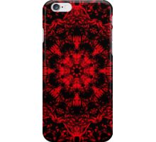 Deep Red Gothic Fleur iPhone Case/Skin