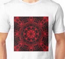 190. Deep Red Gothic Fleur Unisex T-Shirt