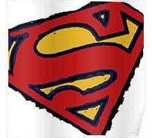 Superman white Poster