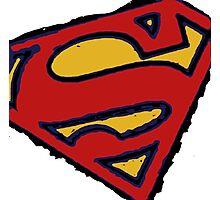Superman white Photographic Print