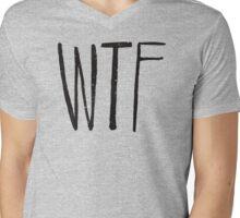 WTF Noir Mens V-Neck T-Shirt