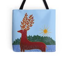 Deer in Sunlight Tote Bag