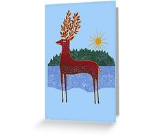 Deer in Sunlight Greeting Card