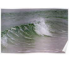 Emerald Wave Poster