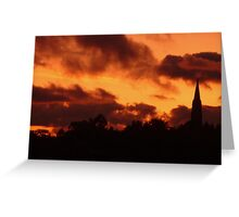 the fire of god Greeting Card