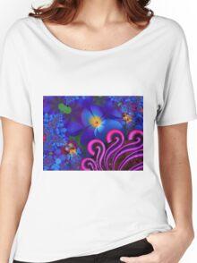 Blue Rainbow Garden Women's Relaxed Fit T-Shirt