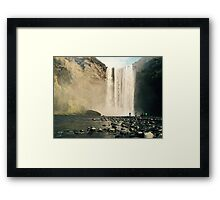 Skogfoss Waterfall, Iceland  Framed Print