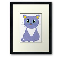 Only Lonely and Blue Cat Framed Print