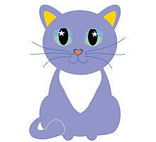 Only Lonely and Blue Cat Photographic Print