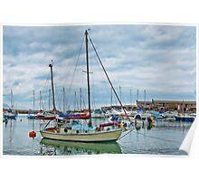 Colourful Harbour ~ Lyme Regis Poster