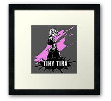 Tiny Tina (Colored BG) Framed Print