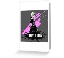 Tiny Tina (Colored BG) Greeting Card
