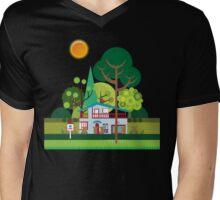 Suburbs Mens V-Neck T-Shirt