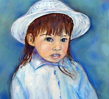 Girl With A Hat by Loretta Luglio