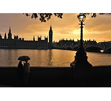 Romantic Sunset in London Photographic Print