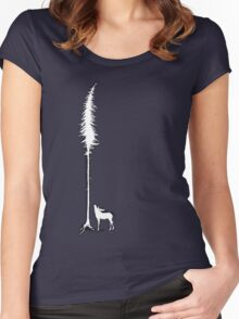 Desperate Moose (white) Women's Fitted Scoop T-Shirt