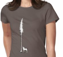 Desperate Moose (white) Womens Fitted T-Shirt