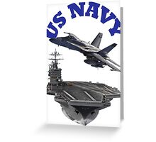 F/A-18 Hornet and the USS Harry S. Truman Greeting Card