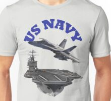 F/A-18 Hornet and the USS Harry S. Truman Unisex T-Shirt