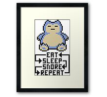 The Snorlax Song Framed Print