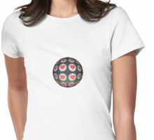 Heart Ball Round Hearts Red Black  Relic Womens Fitted T-Shirt