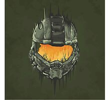 Master Chief Helmet Photographic Print