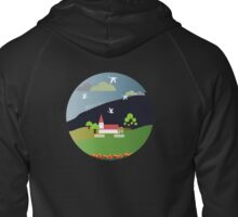 The village church Zipped Hoodie
