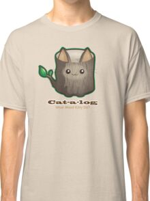 Cute Cat Pun: Cat-a-log Classic T-Shirt