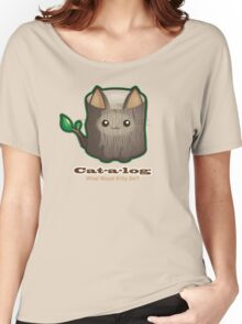 Cute Cat Pun: Cat-a-log Women's Relaxed Fit T-Shirt