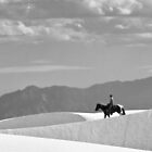 Horse and Rider at White Sands by Mitchell Tillison