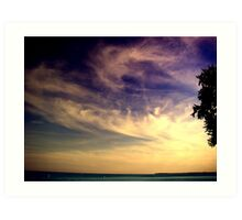 Sunset Over the Waters Art Print