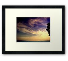 Sunset Over the Waters Framed Print