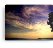 Sunset Over the Waters Metal Print