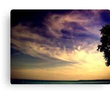 Sunset Over the Waters Canvas Print