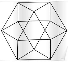 Simple Sacred Geometry Tetrahedron Poster