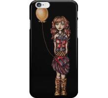 Cute Punk Cartoon of Girl Holding Yellow Balloon  iPhone Case/Skin