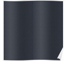 Neutral Chequered Pattern (Black & Grey) Poster