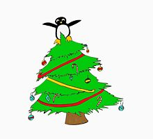 Penguin at the top of the Xmas tree Unisex T-Shirt