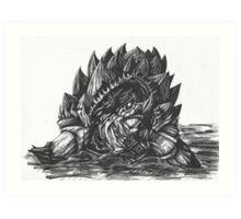 Giant Snapping Dragon Turtle Art Print