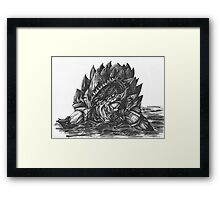 Giant Snapping Dragon Turtle Framed Print