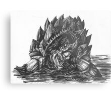 Giant Snapping Dragon Turtle Metal Print