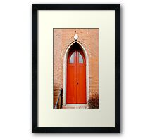 Gothic Doors Framed Print
