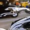 1934 Ford Roadster Greyhound Hood Ornament by HeavenlyCanvas